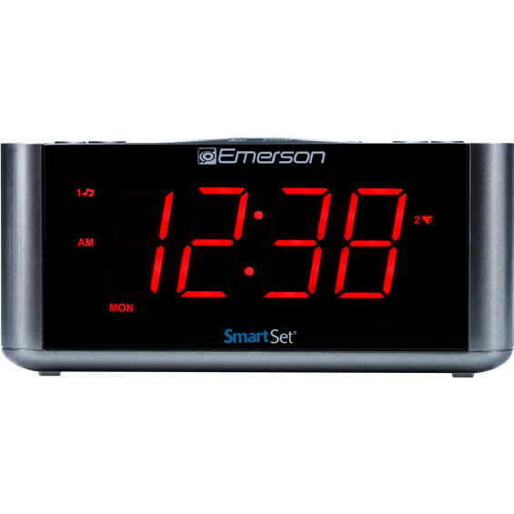 Smartset Alarm Clock Radio With Bluetooth Speaker Usb