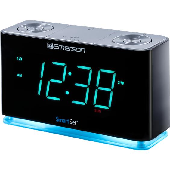 Smartset Alarm Clock Radio With Bluetooth Speaker Usb