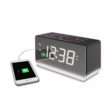 254861df75b Alarm Clock Radio with USB Charger