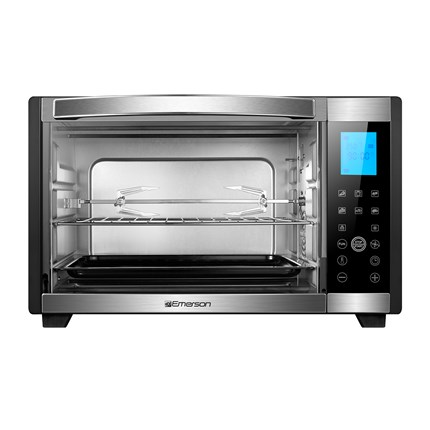 6 slice convection rotisserie countertop toaster oven with digital touch control in stainless for Toaster oven stainless steel interior