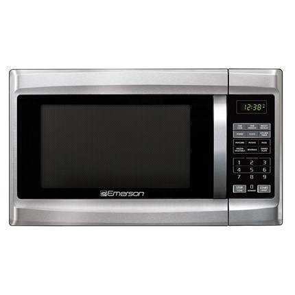 1 3 cu ft 1000 watt stainless steel front black cabinet rh emersonradio com Red Emerson Microwave Model Number Emerson Microwaves at Walmart