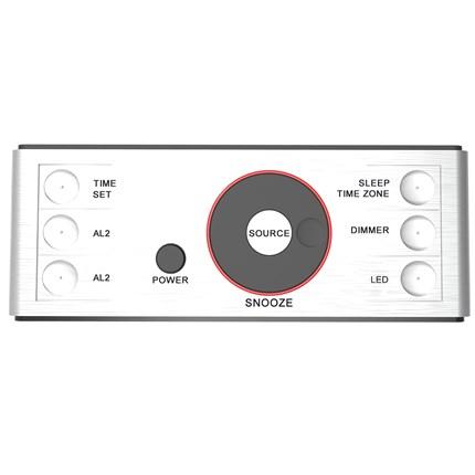 SmartSet Alarm Clock Radio with USB Charger, Nightlight and Bluetooth  Speaker