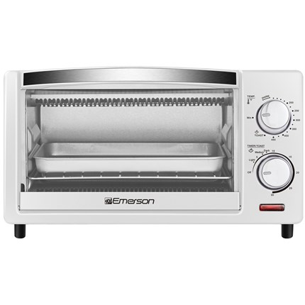 4 Slice Countertop Toaster Oven in White